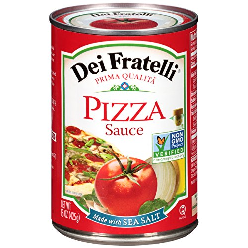 Dei Fratelli Pizza Sauce - All Natural - No Water Added - Never from Tomato Paste - 5th Generation Recipe (15 oz. cans; 6 (Tomato Paste Brands)
