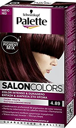Tinte palette salon colors 4.89 caoba violeta: Amazon.es: Belleza
