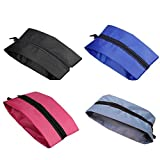 Travel Shoe Bags,Lavince Portable Waterproof Nylon Travel Shoe Bags(15in) with Zipper Closure,Set of 4(Multicolor:Black+Pink+Blue+Gray)