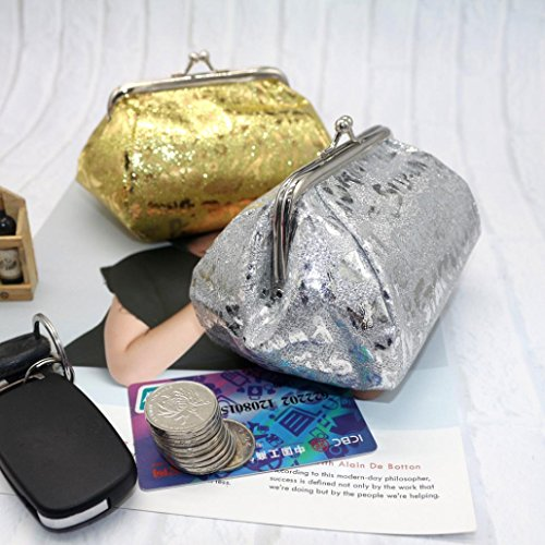 Silver Wallet Clearance Purse Women Lady Bag Coin Bag Reflector Deals Coin Laser TOOPOOT 77qSrgn
