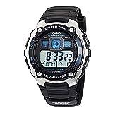 Casio AE-2000W-1AVCF Men's AE2000W-1AV Silver-Tone and Black Multi-Functional Digital Sport Watch