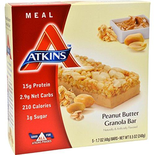 (4 Pack of Atkins Advantage Bar Peanut Butter Granola - 5 Bars - - -)