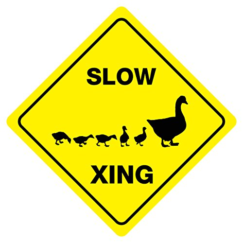 - SLOW DUCK CROSSING Animal Funny Novelty Xing Sign
