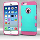 MyBat Cell Phone Case for Apple iPhone 6S/6 - Teal Green/Hot Pink Brushed
