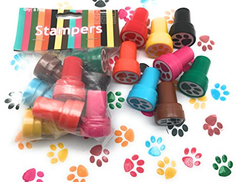 48 pieces Paw Stampers Birthday Party Favors Supplies Birthday Bag Accessories Classroom Teachers Reward Activities -