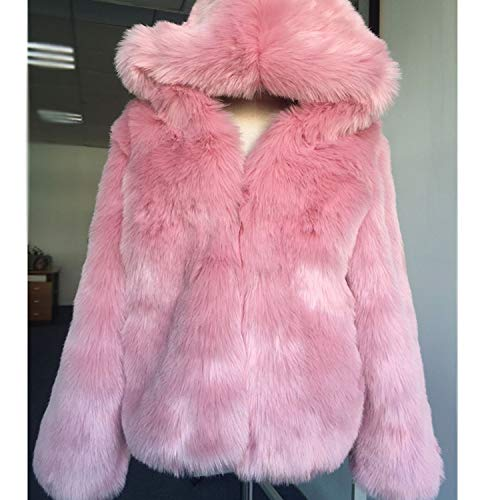 Fox Fur Coat Women Autumn Parkas Warm Thicken Shorts Hooded ()