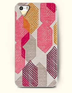 iPhone 5/5S Case, OOFIT Phone Cover Series for Apple iPhone 5 5S Case (DOESN'T FIT iPhone 5C)-- Pink Orange And Purple Hexagon -- Honeycomb Pattern