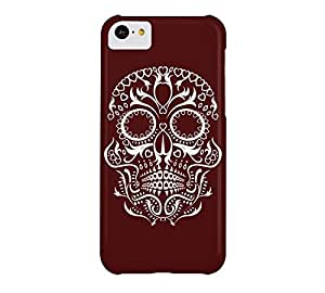 Day of the Dead Skull No8 iPhone 5c Bulgarian rose Barely There Phone Case