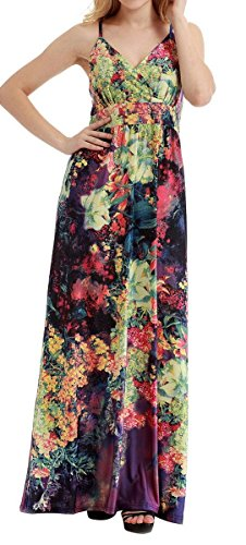 Ladies Chiffon Beach dress Evening Gown Cocktail Party Holiday Ball Gala Prom Maxi Dress for Women Size 2XL ()