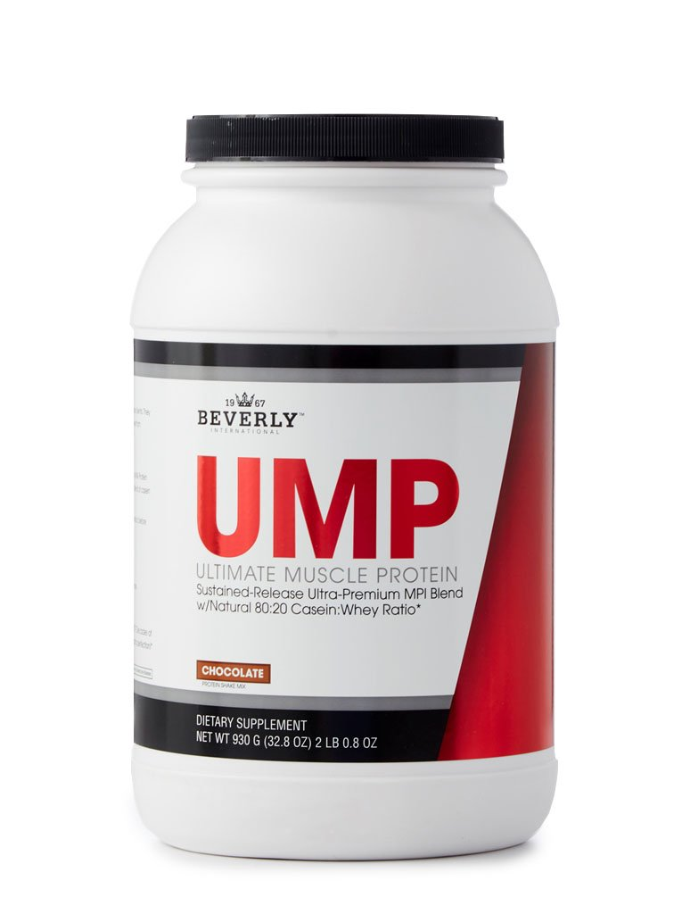 Beverly International UMP Protein Powder 30 servings, Chocolate. Unique whey-casein ratio builds lean muscle and burns fat for hours. Easy to digest. No bloat. (32.8 oz) 2lb .8 oz by Beverly International