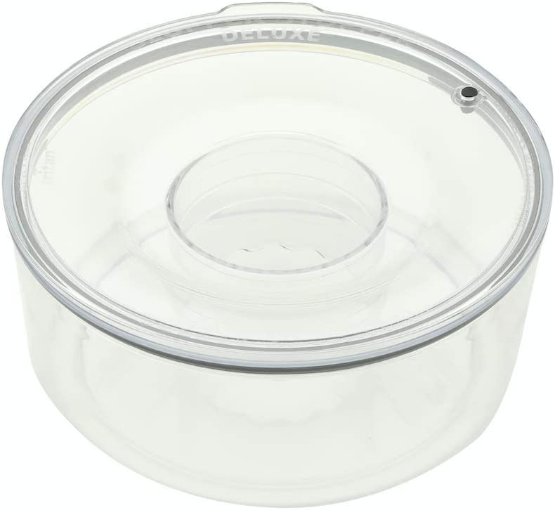 "Slopper Stopper Dripless Water Bowl, Tritan Plastic Units, 1 Gallon (9.84"" Dia)"