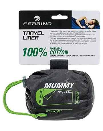 Ferrino SLEEPINGBAG Sheet Travel Mummy Saco de Dormir Tiempo Libre y Senderismo Unisex Adulto, Blanco