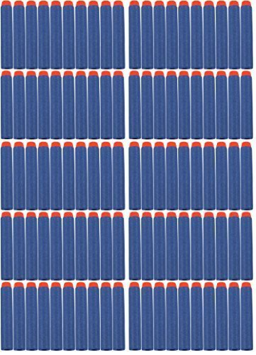 UPC 651174991894, Blue and Orange NERF and N-Strike Compatible Darts-100 Count Pack; Fits Elite, Zombie, Rebelle & More