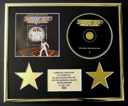 BEE GEES/CD DISPLAY/ LIMITED EDITION/COA/SATURDAY NIGHT