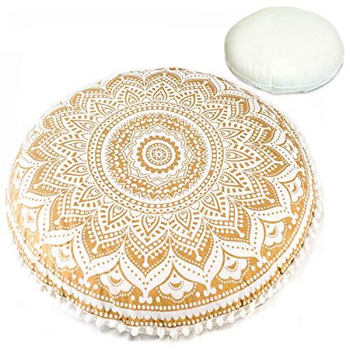 Organic Printed - Mandala Life ART Bohemian Decor Floor Cushion - Insert Included - 30