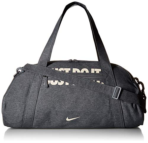 Club Duffle - NIKE Women's Gym Club Duffel Bag, Cool Grey/Cool Grey/Guava Ice, One Size