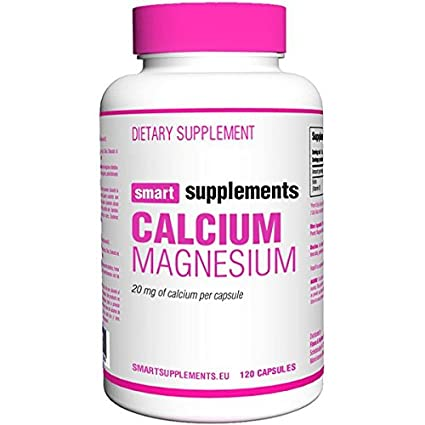 Smart Supplements Calcio Magnesio Suplemento - 120 Cápsulas: Amazon.es: Salud y cuidado personal
