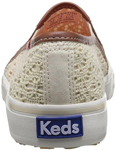 Keds Womens Double Decker Crochet Fashion Sneaker Natural GV6RA
