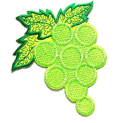 Nipitshop Patches Fashion Green Grapes Bunch Fruit Cartoon Kids Patch Embroidered Iron On Patch for Clothes Backpacks T-Shirt Jeans Skirt Vests Scarf Hat Bag