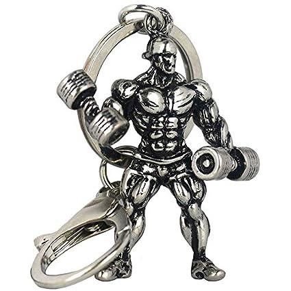 Amazon.com : Occus Dumbbell Strong Man Keychain Bodybuilding ...