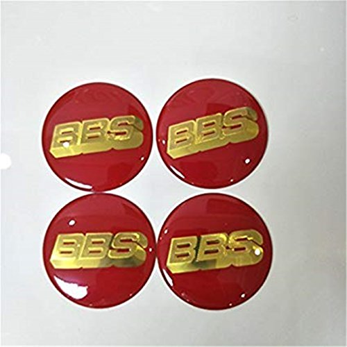 Luck16888 New BBS Red/Gold Wheel Center Caps Emblems 4 pcs Set 65mm BBS Car Cap Logo Badge Sticker Auto Wheel Center Cap hub Emblems