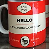 DODO MUG LIONEL RICHIE AVEC INSCRIPTION HUMORISTIQUE HELLO IS IT TEA YOURE-LOOKING FOR ?-ROUGE-TASSE-NEW