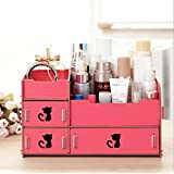 Home-Neat DIY Desktop Storage Cute Cat Display Boxes Makeup Organizer for Any Decor