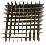 Cell Divider for Tube Storage Boxes, Cardboard, 10 x 10 Array, 11.65mm Opening, 100 Tube Capacity