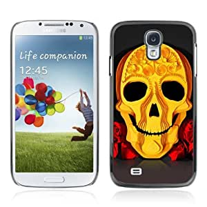 Designer Depo Hard Protection Case for Samsung Galaxy S4 / Cool Yellow Skull Art