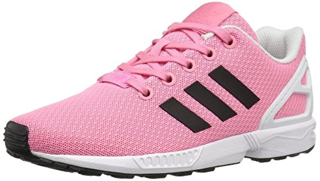 adidas originali zx flusso bambini grandi scarpe rosa / nucleo nero unisex / bianco