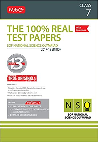 Buy The 100% Real Test Papers (NSO) Class 7 Book Online at