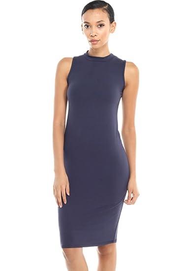 41fdc3b273d 2LUV Women s Mix Print Mock Turtleneck Bodycon Midi Dress at Amazon Women s  Clothing store