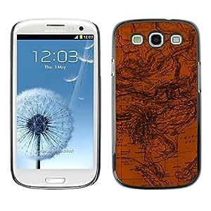 Be Good Phone Accessory // Dura Cáscara cubierta Protectora Caso Carcasa Funda de Protección para Samsung Galaxy S3 I9300 // Map Geography Ocean Currents Earth Planet Art