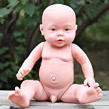 Everpert Nurturing Dolls Simulation Doll New Born Baby Doll Newborn Toy Boy Girl Birthday Gift, male