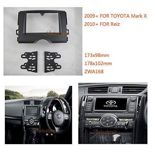 FidgetFidget Car Adaptor Radio Fitting Kit Stereo Panel for Toyota Mark X 2009+ Reiz 2010+