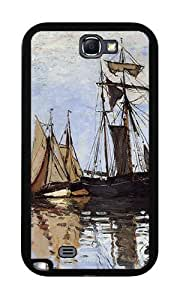 Boats in the Port of Honfleur (Monet) - Case for Samsung Galaxy Note 2