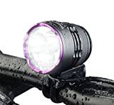 TrustFire 1100 Lumens Bike Light Set Rechargeable Bicycle Front Lights, Super Bright 3 LED Headlight for Cycling(Battery and Charger Included)