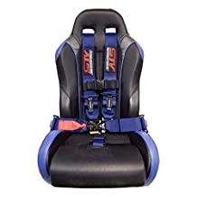 STV Motorsports V-Type 5 Point Racing Harness Set Latch and Link 3 inch Safety Seat Belt for Off-Road racing, UTV, Trucks, Side by Side 1PC (Blue)