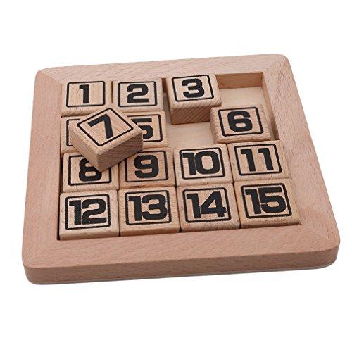 Iumer Wooden Klotski Sliding Block Puzzle Handmade Wooden Puzzles Wooden Brain Teaser