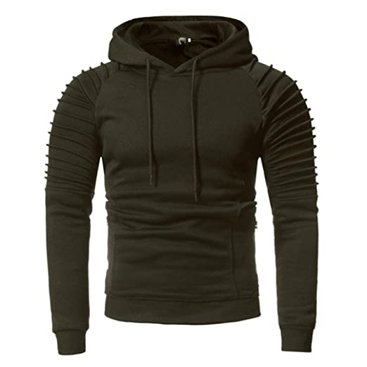 3cce39119 Image Unavailable. Image not available for. Color: Corriee Men Hoodies Mens  Autumn Winter Stylish Long Sleeve Casual Pleated Fit Sweatshirt Hooded  Sports ...
