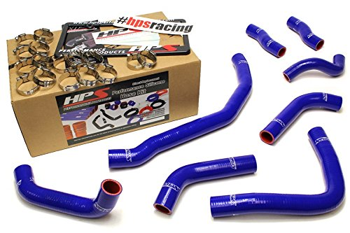 HPS 57-1501-BLUE Blue Silicone Coolant Hose Kit (front radiator + rear engine) by HPS (Image #1)