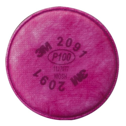 3M P100 Particulate Filter - 2/ Pack - Pink