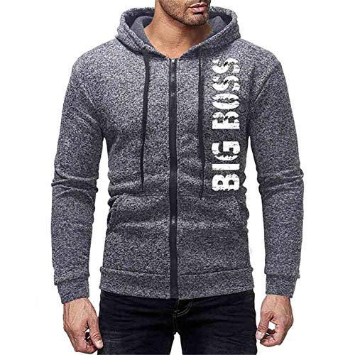 (TIFENNY Mens' Hoodie Solid Letter Print Long Sleeve Casual Pullover 2019 New Bottoming Sweatshirt Outwear Tops)