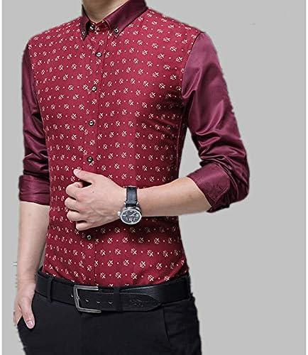 IYFBXl Camisa de Hombre - Color sólido/geométrico/Patchwork de Bloque de Color/impresión, Vino, L: Amazon.es: Deportes y aire libre