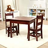 Melissa and Doug Tables and Chairs 3 Piece Set   Espresso