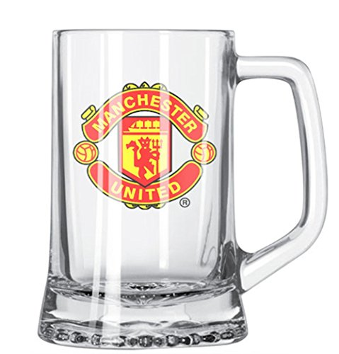 Manchester United Supporter (MANCHESTER UNITED FC SHORT BEER MUG - OFFICIAL MANCHESTER UNITED PRODUCT - GREAT FOR ANY MAN UTD FAN - FEATURES MANCHESTER UNITED FC CREST IN FULL COLOR - GET YOURS TODAY)