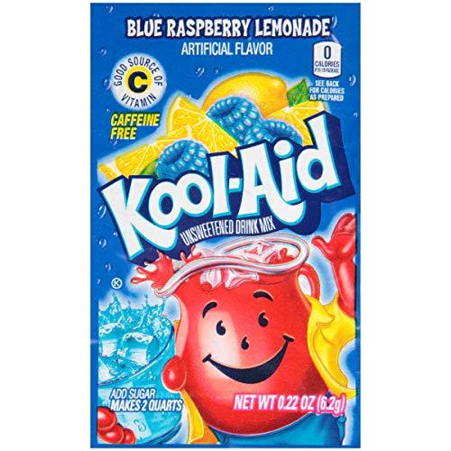 Kool Aid Blue Raspberry Lemonade Twist Drink Mix, Makes 2 Quarts, 0.22 Ounce, Pack of - Rasberry Blue