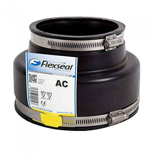 AC1602 Flexseal Adaptor Coupling with OD of 144mm-160mm to 110mm-122mm on Alternate Sides Flexible Rubber Boot Reducer Coupling Adapter Pipe Connector Joiner