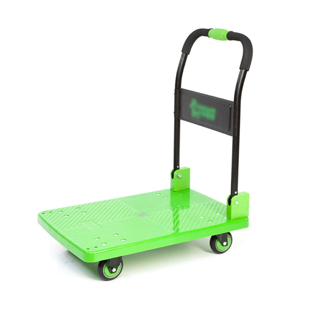 SZQ 消音トロリー、倉庫フラットベッドトロリー耐摩耗トロリー家庭用トロリーサイズ73 * 49 * 23CM 利便性 (色 : Green, サイズ さいず : 73*49CMSilent brake wheel) B07K5F4BXF Green 73*49CMSilent brake wheel