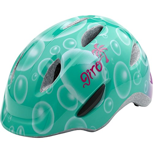 Giro Scamp Helmet - Kid's Turquoise/Magenta Bubbles Small